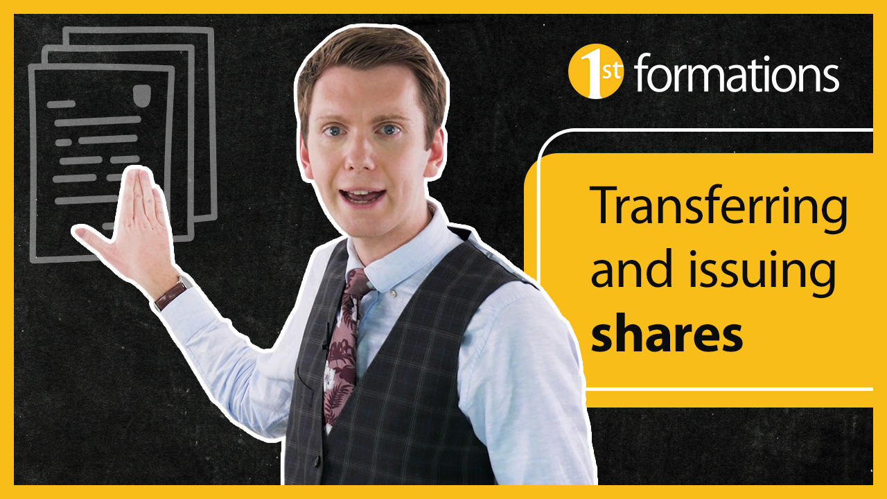 Transferring and issuing company shares.